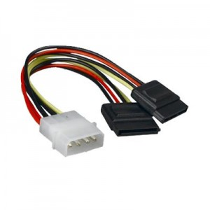 LP4 to 2 SATA Power Splitter Cable