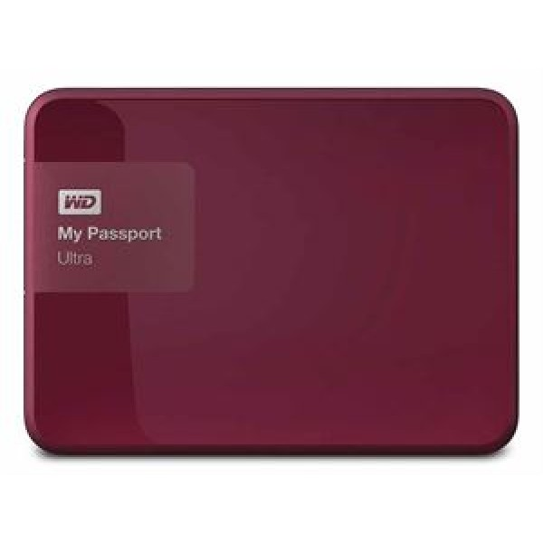 Western Digital My Passport Ultra 1TB External USB 3.0 Hard Drive with Backup Software RED *Free Shipping